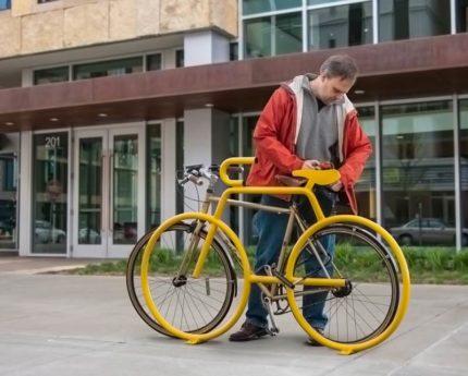 yellow-bike-shaped-bike-rack