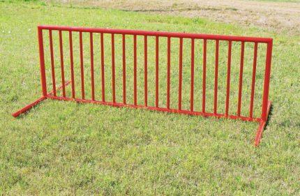 red bike rack