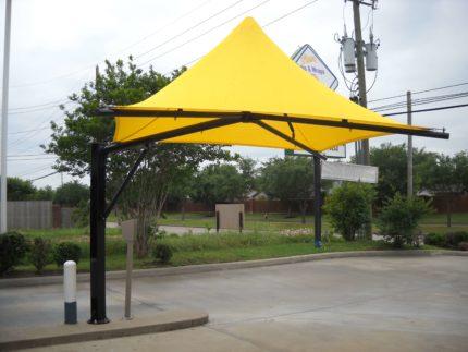 yellow cantiumbrella
