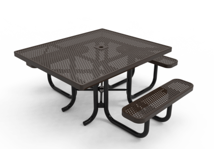brown handicap accessible picnic table