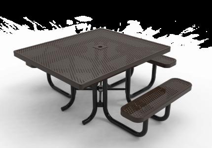 brown handicap accessible picnic table