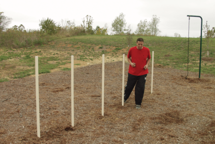 agility posts outdoor workout
