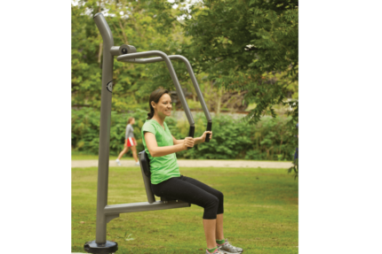 outdoor upright bench press machine