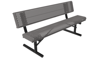 grey park bench metal