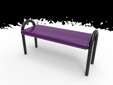 purple park bench metal
