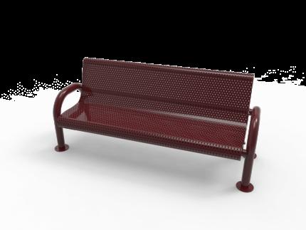 maroon park bench