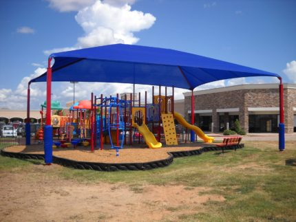 shade system over entire playground