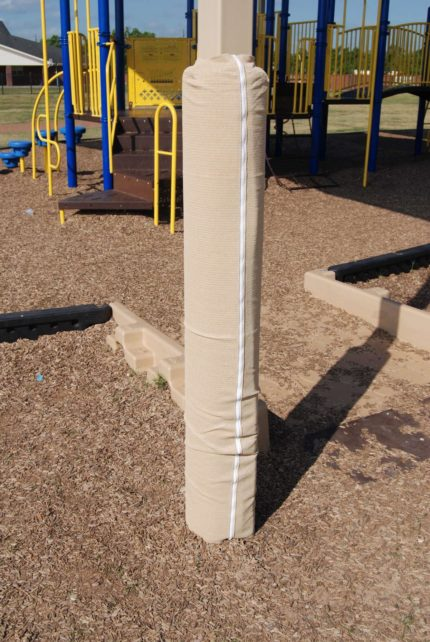 padding-around-pole-on-playground