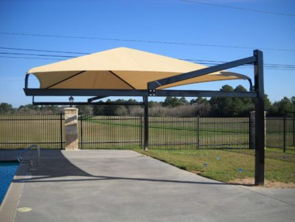 poolside shade system