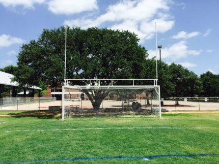 goal post on soccer goal combo