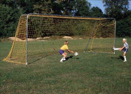 soccer goal yellow net