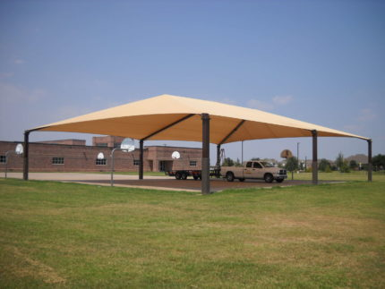 shade for basketball court