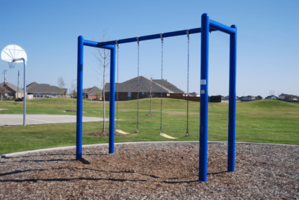 blue swing set