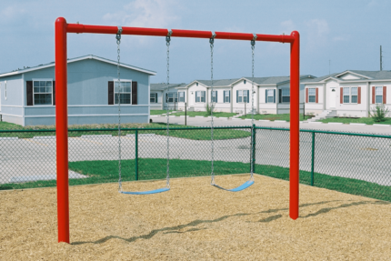 red swing set
