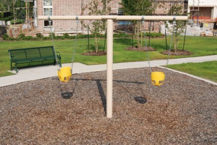 yellow children swings