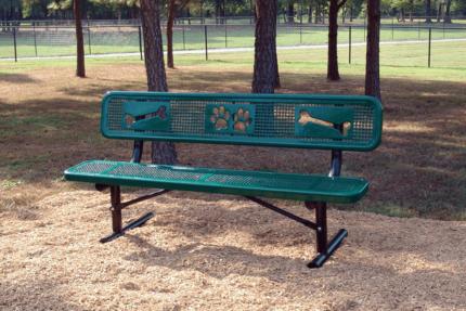 custom dog bone bench