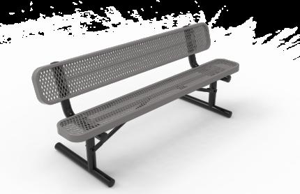 grey park bench