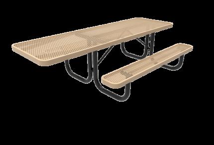 handicap accessible metal picnic table