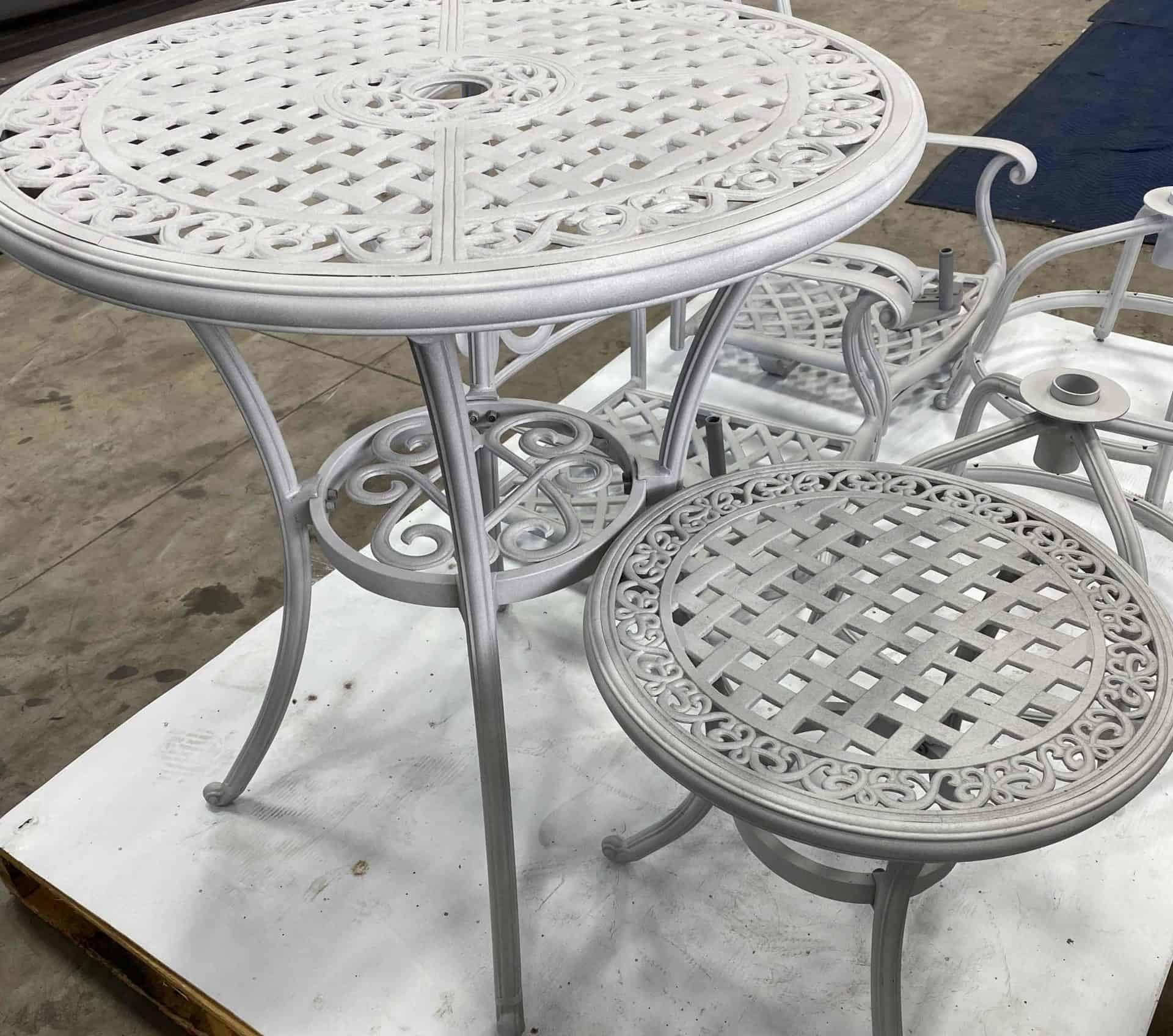 powder coated lawn furniture
